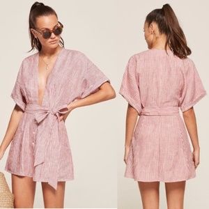 Reformation NWOT Cecilia Linen Dress
